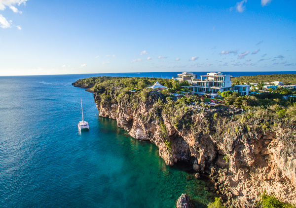 Aerial photo of Villa ANI NOR (Ani Villas - North) at Anguilla, Little Bay, Family-Friendly Villa, Pool, 4 Bedrooms, 4 Bathrooms, WiFi, WIMCO Villas