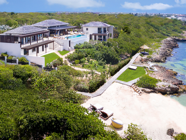 Aerial photo of Villa AXA KAM1 (Triton at Kamique) at Anguilla, Little Harbour, Family-Friendly Villa, Pool, 6 Bedrooms, 6 Bathrooms, WiFi, WIMCO Villas