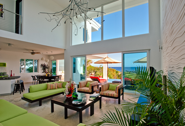 Living Room at Villa AXA TEQ (Tequila Sunrise) at Anguilla, Sandy Hill, Family-Friendly Villa, Pool, 3 Bedrooms, 3 Bathrooms, WiFi, WIMCO Villas