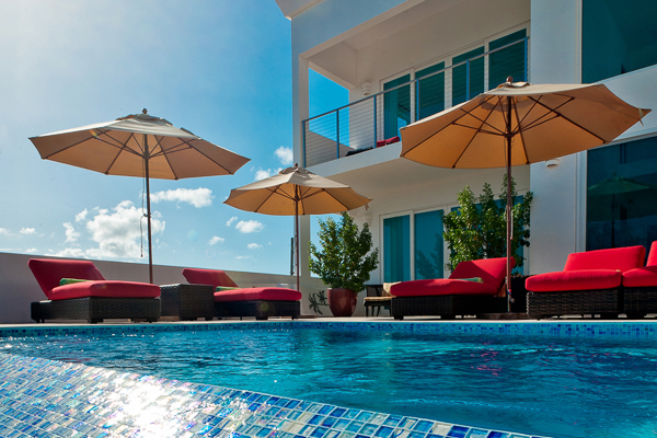 Villa Pool at Villa AXA TEQ (Tequila Sunrise) at Anguilla, Sandy Hill, Family-Friendly Villa, Pool, 3 Bedrooms, 3 Bathrooms, WiFi, WIMCO Villas