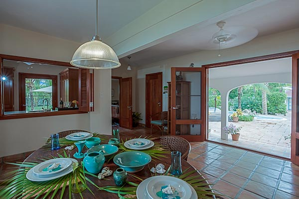 Dining Room at Villa IDP LEM (L'Embellie) at Anguilla, Forest Bay, Family-Friendly Villa, Pool, 3 Bedrooms, 3 Bathrooms, WiFi, WIMCO Villas