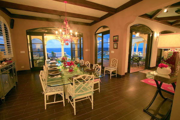 Dining Room at Villa RIC AMA (Villa Amarilla) at Anguilla, Shoal Bay East, Family-Friendly Villa, Pool, 5 Bedrooms, 5 Bathrooms, WiFi, WIMCO Villas