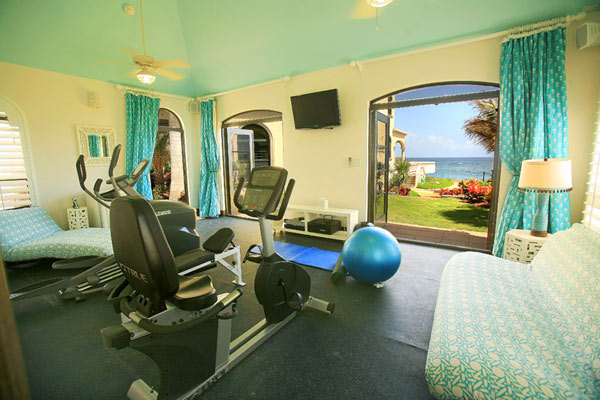Gym at Villa RIC AMA (Villa Amarilla) at Anguilla, Shoal Bay East, Family-Friendly Villa, Pool, 5 Bedrooms, 5 Bathrooms, WiFi, WIMCO Villas
