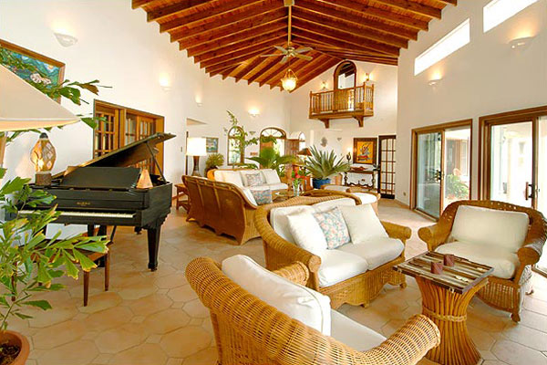Living Room at Villa RIC COY (Coyaba) at Anguilla, Lockrum Estates, Family-Friendly Villa, Pool, 6 Bedrooms, 6 Bathrooms, WiFi, WIMCO Villas
