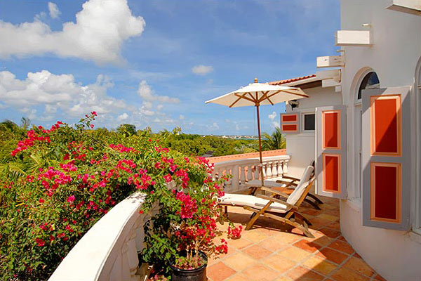 Terrace at Villa RIC COY (Coyaba) at Anguilla, Lockrum Estates, Family-Friendly Villa, Pool, 6 Bedrooms, 6 Bathrooms, WiFi, WIMCO Villas