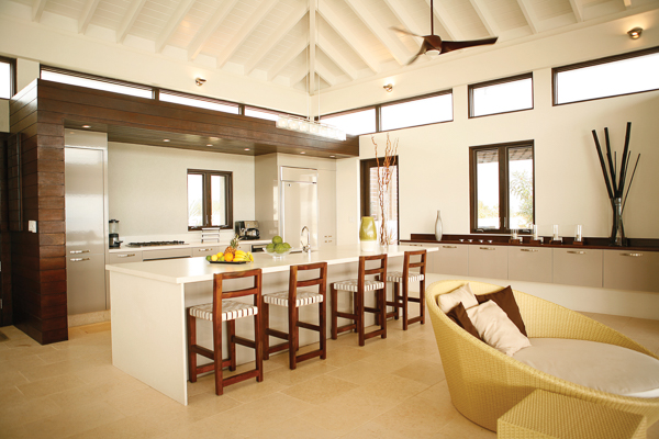 Kitchen at Villa RIC KAM2 (Anani at Kamique) at Anguilla, Little Harbour, Family-Friendly Villa, Pool, 4 Bedrooms, 4 Bathrooms, WiFi, WIMCO Villas