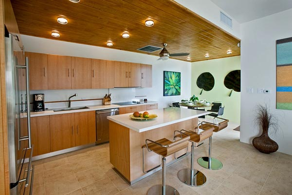 Kitchen at Villa MAT REF (The Refuge) at Tortola, NW/Green Bank, Family-Friendly Villa, Pool, 3 Bedrooms, 4 Bathrooms, WiFi, WIMCO Villas