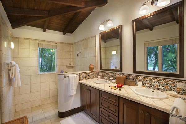Bathroom at Villa MAT STB (St. Bernard's Hill House) at Tortola, West End/Belmont, Family-Friendly Villa, Pool, 5 Bedrooms, 6 Bathrooms, WiFi, WIMCO Villas
