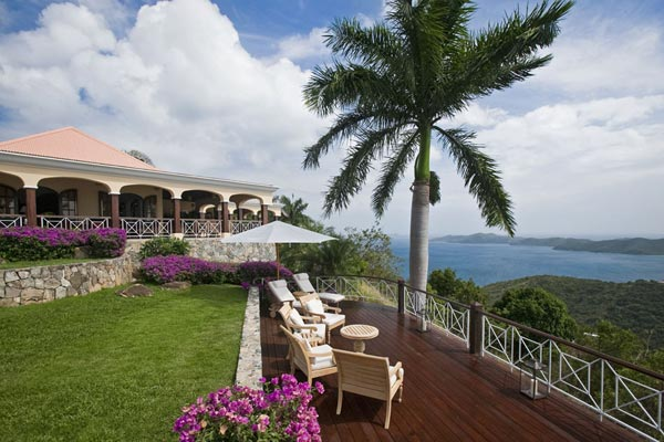Deck at Villa MAT STB (St. Bernard's Hill House) at Tortola, West End/Belmont, Family-Friendly Villa, Pool, 5 Bedrooms, 6 Bathrooms, WiFi, WIMCO Villas