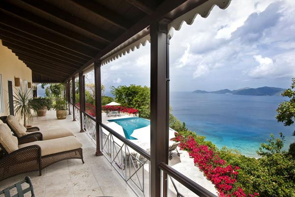 Terrace at Villa MAT STB (St. Bernard's Hill House) at Tortola, West End/Belmont, Family-Friendly Villa, Pool, 5 Bedrooms, 6 Bathrooms, WiFi, WIMCO Villas