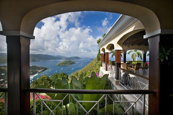 The view from Villa MAT STB (St. Bernard's Hill House) at Tortola, West End/Belmont, Family-Friendly Villa, Pool, 5 Bedrooms, 6 Bathrooms, WiFi, WIMCO Villas