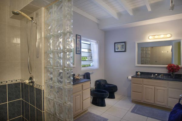 Bathroom at Villa MAT SUH (Summer Heights) at Tortola, South/Havers Hill, Family-Friendly Villa, Pool, 6 Bedrooms, 6 Bathrooms, WiFi, WIMCO Villas