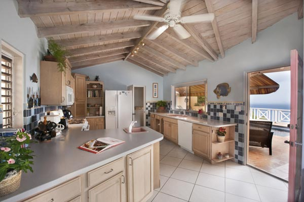 Kitchen at Villa MAT SUH (Summer Heights) at Tortola, South/Havers Hill, Family-Friendly Villa, Pool, 6 Bedrooms, 6 Bathrooms, WiFi, WIMCO Villas