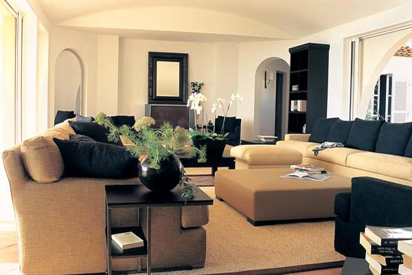 Living Room at Villa RES 6BED (La Reserve Ramatuelle) at France, St. Tropez & The Var, Family-Friendly Villa, Pool, 6 Bedrooms, 6 Bathrooms, WiFi, WIMCO Villas