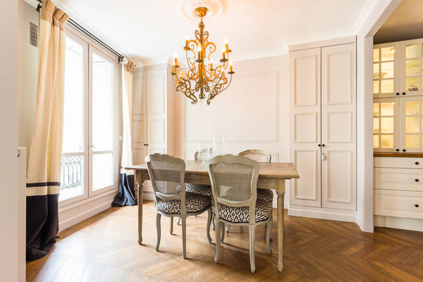 Dining Room at Villa YNF FAU (L'appart Faubourg St-Honore) at France, Paris, Family-Friendly Villa, 2 Bedrooms, 2 Bathrooms, WiFi, WIMCO Villas
