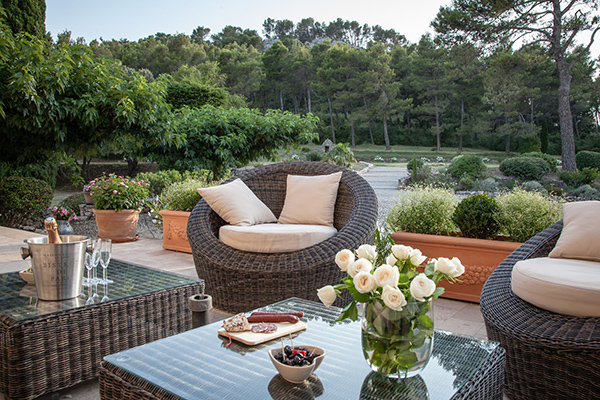 Terrace at Villa YNF TOU (Chateau de la Tour) at France, Provence - Les Alpilles Area, Family-Friendly Villa, Pool, 6 Bedrooms, 6 Bathrooms, WiFi, WIMCO Villas