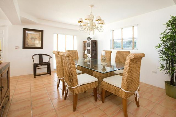 Dining Room at Villa CM CPD (Caribbean Paradise) at Grand Cayman, South Shore, Family-Friendly Villa, Pool, 3 Bedrooms, 3 Bathrooms, WiFi, WIMCO Villas