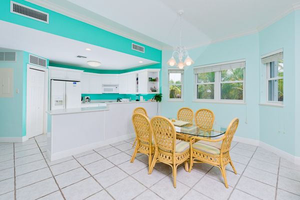 Dining Room at Villa CM BAY2 ( On The Bay 104) at Grand Cayman, Old Man Bay, Family-Friendly Villa, Pool, 2 Bedrooms, 2 Bathrooms, WiFi, WIMCO Villas