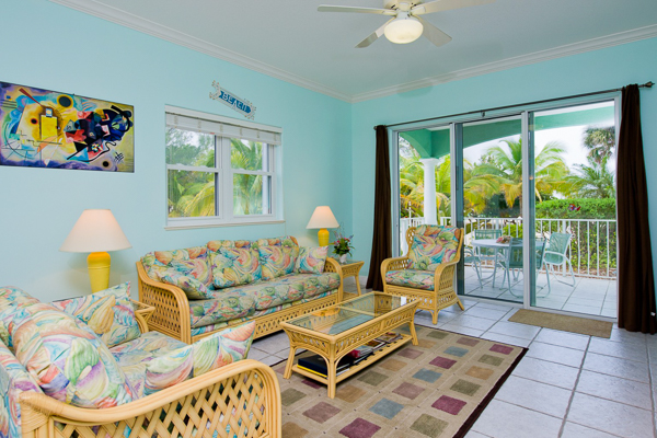 Living Room at Villa CM BAY2 ( On The Bay 104) at Grand Cayman, Old Man Bay, Family-Friendly Villa, Pool, 2 Bedrooms, 2 Bathrooms, WiFi, WIMCO Villas