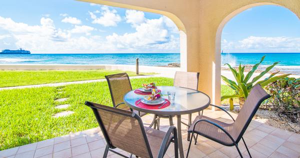 The view from WIMCO Villa CM GTV1 (George Town #101) at Seven Mile Beach, Grand Cayman