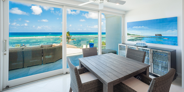 Dining Room at WIMCO Villa GCM GBE (Great Bluff Estate) at East End, Grand Cayman