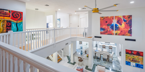 Interior of WIMCO Villa GCM GBE (Great Bluff Estate) at East End, Grand Cayman
