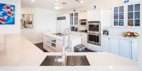 Kitchen at WIMCO Villa GCM GBE (Great Bluff Estate) at East End, Grand Cayman