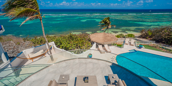 The view from WIMCO Villa GCM GBE (Great Bluff Estate) at East End, Grand Cayman