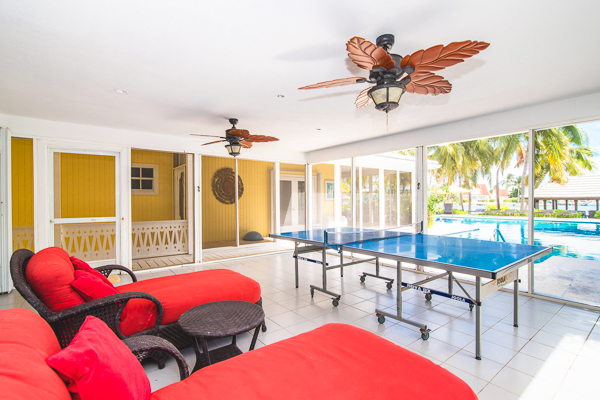 Game Room at WIMCO Villa GCM GES (Great Escape) at Rum Point, Grand Cayman