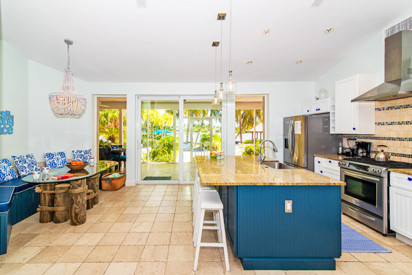 Kitchen at WIMCO Villa GCM GES (Great Escape) at Rum Point, Grand Cayman