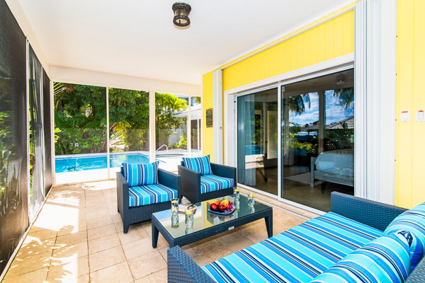 Living Room at WIMCO Villa GCM GES (Great Escape) at Rum Point, Grand Cayman