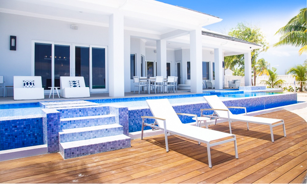 Deck at Villa GCM POV (Point of View) at Grand Cayman, South Shore, Family-Friendly Villa, Pool, 6 Bedrooms, 6 Bathrooms, WiFi, WIMCO Villas