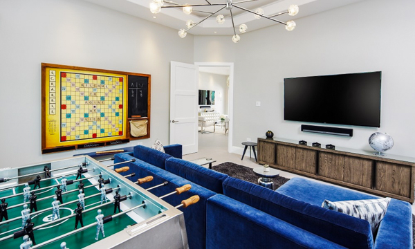 Game Room at Villa GCM POV (Point of View) at Grand Cayman, South Shore, Family-Friendly Villa, Pool, 6 Bedrooms, 6 Bathrooms, WiFi, WIMCO Villas