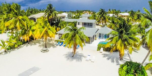 Aerial photo of WIMCO Villa GCM RBW (Two Rainbows) at Cayman Kai, Grand Cayman