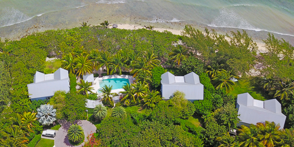 Aerial photo of WIMCO Villa GCM SEO (Sea Orchard Retreat) at Seven Mile Beach, Grand Cayman