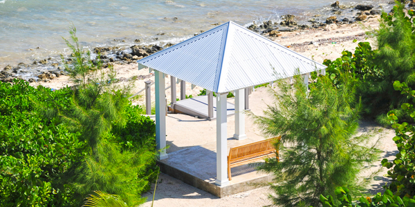 Gazebo at WIMCO Villa GCM SEO (Sea Orchard Retreat) at Seven Mile Beach, Grand Cayman