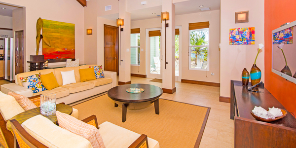 Living Room at WIMCO Villa GCM SEO (Sea Orchard Retreat) at Seven Mile Beach, Grand Cayman