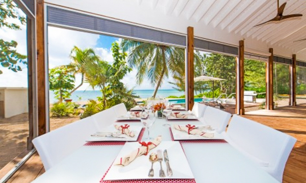 Dining Room at WIMCO Villa GCM WHT (White Cottage) at South Shore, Grand Cayman