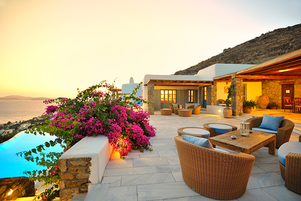 Terrace at Villa LIV APO (Apollo Retreat) at Greece, Mykonos, Family-Friendly Villa, Pool, 4 Bedrooms, 4 Bathrooms, WiFi, WIMCO Villas