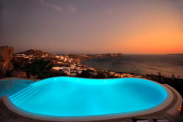 The view from Villa LIV APO (Apollo Retreat) at Greece, Mykonos, Family-Friendly Villa, Pool, 4 Bedrooms, 4 Bathrooms, WiFi, WIMCO Villas