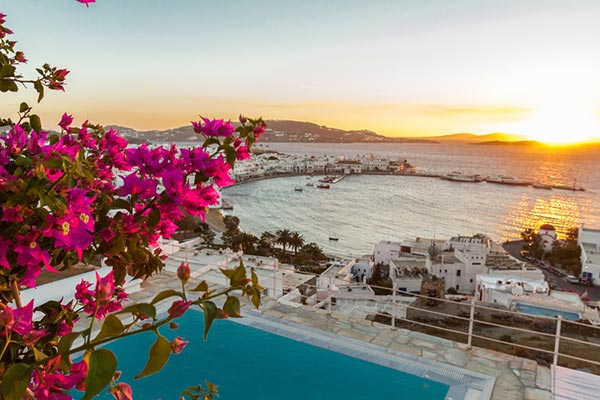 The view from Villa LIV MGO (Margo) at Mykonos, Greece, Family-Friendly, Pool, 6 Bedroom, 6 Bathroom, WiFi, WIMCO Villas