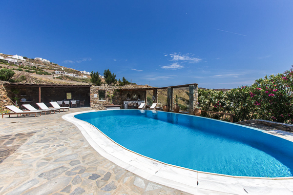 Villa Pool at Villa LIV PAN (Panormos Bay House) at Greece, Mykonos, Family-Friendly Villa, Pool, 4 Bedrooms, 4 Bathrooms, WiFi, WIMCO Villas