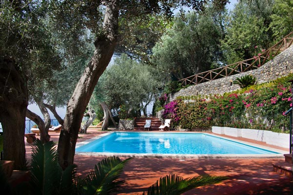 Villa Pool at Villa BRV AZZ (Azzurra) at Italy, Amalfi Coast, Family-Friendly Villa, Pool, 5 Bedrooms, 5 Bathrooms, WiFi, WIMCO Villas