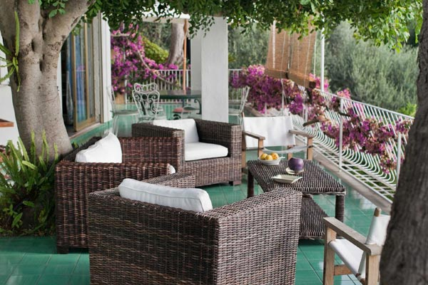Terrace at Villa BRV AZZ (Azzurra) at Italy, Amalfi Coast, Family-Friendly Villa, Pool, 5 Bedrooms, 5 Bathrooms, WiFi, WIMCO Villas