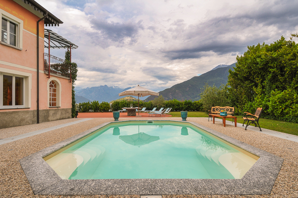 Villa Pool at WIMCO Villa BRV MLT (Melite) at Lake Como, Italy
