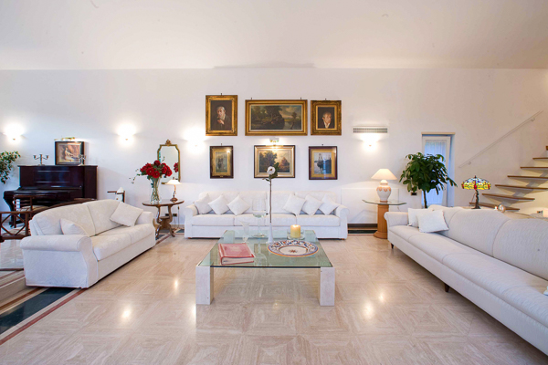 Living Room at Villa BRV PME (Le Palme) at Italy, Sorrento Coast, Family-Friendly Villa, Pool, 5 Bedrooms, 4 Bathrooms, WiFi, WIMCO Villas