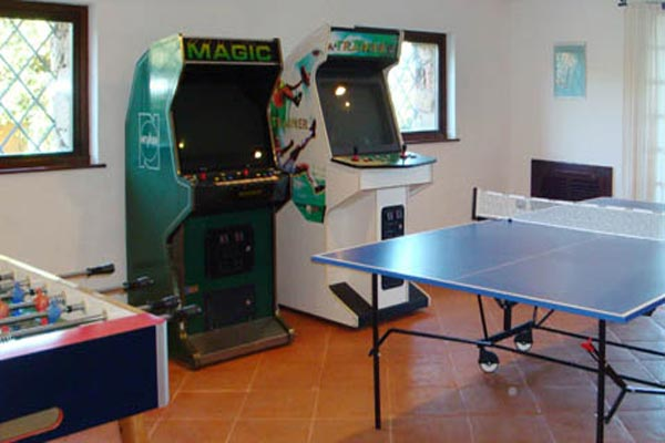 Game Room at Villa HII VOP (Volpe) at Italy, Sardinia, Family-Friendly Villa, Pool, 6 Bedrooms, 6 Bathrooms, WiFi, WIMCO Villas