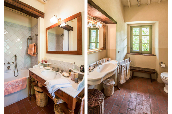 Bathroom at Villa SAL CMP (Campassole) at Italy, Tuscany/Chianti, Family-Friendly Villa, Pool, 5 Bedrooms, 4 Bathrooms, WiFi, WIMCO Villas