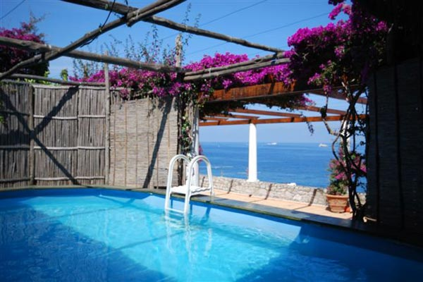 Villa Pool at Villa YPI GEL (Gelsomina) at Italy, Sorrento Coast, Family-Friendly Villa, Pool, 3 Bedrooms, 2 Bathrooms, WiFi, WIMCO Villas