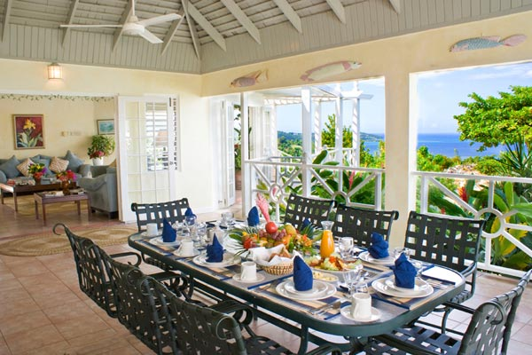 Dining Room at Villa VL CLF (Cliffside Cottage) at Jamaica, Montego Bay, Family-Friendly Villa, Pool, 5 Bedrooms, 5 Bathrooms, WiFi, WIMCO Villas